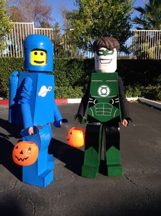 Hello, My boys Aidan (Benny Lego) and Logan (Green Lantern Lego) wore these costumes I made for them Halloween 2015. The basis for the costumes was they decided they wanted to be Lego figures for Halloween from the Lego Movie. The costumes are constructed from cardboard, actual foam insulation boards layered (glued and shaped), foam, …