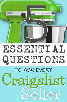 Avoiding scams or unwanted surprises when you buy used goods on Craigslist is easy if you ask the right questions. And we think it's essential to ask every Craigslist seller these 5 questions every time! ~Kristi (OKC Craigslist Garage Sales | okc-craigslist.blogspot.com)