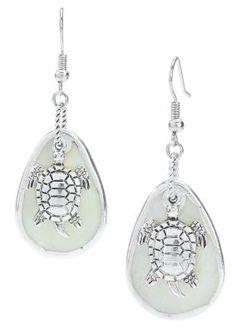 Sea Life Shell Earrings