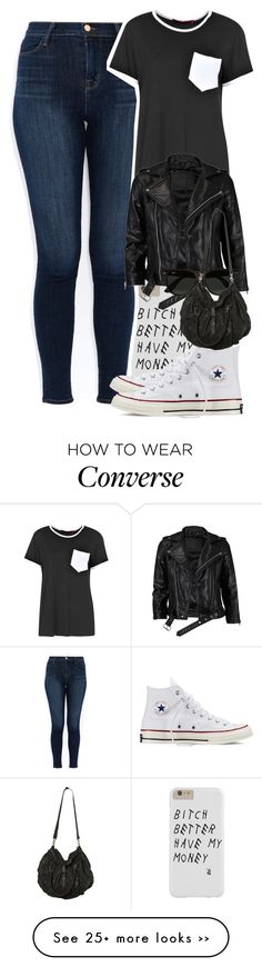 """Untitled #3086"" by dianna-argons-lover on Polyvore featuring mode, J Brand, Boohoo, Converse, VIPARO, Ray-Ban et AllSaints"
