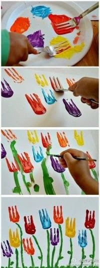 Ideas For Flowers Crafts Preschool Art Projects Kids Crafts, Toddler Crafts, Easter Crafts, Projects For Kids, Diy For Kids, Holiday Crafts, Art Projects, Arts And Crafts, Christmas Crafts