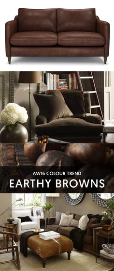 For beautiful Sofas and Chairs made in the UK visit The Lounge Co. Creating your perfect Sofa has never been so easy Brown Leather Chairs, Beautiful Sofas, Velvet Sofa, Color Trends, Earthy, Interior Inspiration, Caramels, Sofa Chair, Lounge