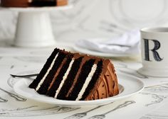 6-layer chocolate malted and toasted marshmallow cake!