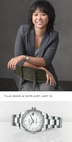 Renowned pianist Yuja Wang sporting a Datejust Lady thats a good size Cool Watches, Rolex Watches, Rolex Diver, Amazing Women, Beautiful Women, Sporty Watch, Vintage Rolex, Iconic Women, Rolex Datejust