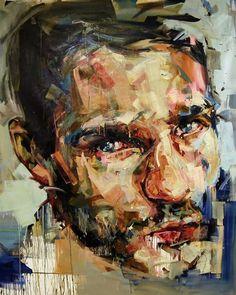 Andrew Salgado (Canadá, 1982 - con base en UK) - Hold, 2013. Óleo sobre lienzo, 200 x 170 cm (colección privada)