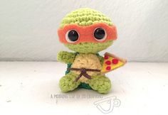 Free pattern for a ninja turtles! (free download on Ravelry)