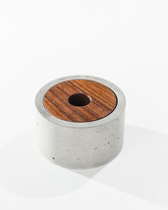 Modern Concrete Shaving Bowl/Cup with solid Teak by INSEKDESIGN