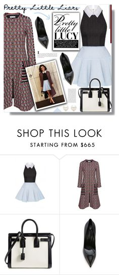 """""""TV Style: Pretty Little Liars"""" by prigaut ❤ liked on Polyvore featuring Oscar de la Renta, Yves Saint Laurent, Casadei, Tiffany & Co., women's clothing, women, female, woman, misses and juniors"""