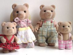Sylvanian Families - The Bear Family. These are now called Calico Critters and they're still going. I once saw them in a toy store.