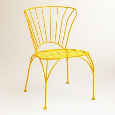 Golden Rod Cadiz Metal Chairs, Set of 2 | World Market