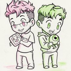 Mark and Jack (and Tiny Box Tim and the septic eye...)