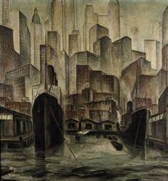New York - Adriaan Lubbers 1926. Oil on canvas. 108 x 100 cm.