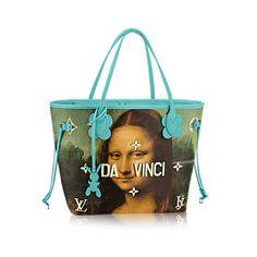 b81305551 LOUIS VUITTON X JEFF KOONS MASTERS Neverfull MM Mona Lisa Gioconda Da Vinci  Bag. Bolsas ...