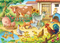 This pin was discovered by ramee arts. Animal Tumblr, Animal Quotes, Funny Animal Pictures, Cute Pictures, Farm Cartoon, Farm Animals Preschool, Baby Animals, Cute Animals, Animal Cartoon Video