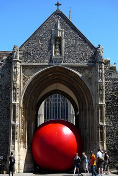 redball@Erpingham Gate | The big red ball's last outing in N… | Flickr - Photo Sharing!