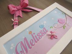 Enfeite de Porta Maternidade ou quadrinho para decoração do quarto. Arte do fundo Impressa em papel fotográfico.