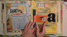 I love how she put the pages on file folders and put them together into a book.    Points of Two Journal Flip by Roben-Marie Smith. Her journal from the Points of Two Project.