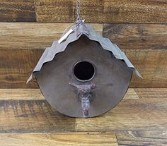 Birdhouses  Rustic Industrial Look Galvanized Corrugated Metal 8 Hanging Birdhouse Bird House With Faucet Garden -- This is an Amazon Associate's Pin. Clicking on the image will lead you to find similar product on the website