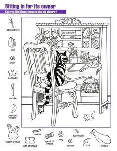 Worksheets For Kids, Printable Worksheets, Activities For Kids, Free Printable, Printable Coloring, Puzzle Photo, Hidden Pictures Printables, Highlights Hidden Pictures, Hidden Picture Puzzles