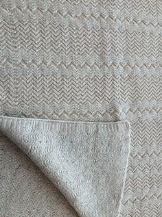 """Oatmeal """"wiggle"""" blanket from Aran ambitions collection A/W 2014"""