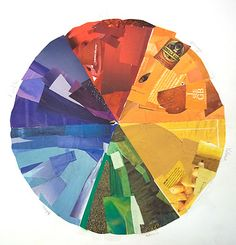 color wheel collage lesson.  and a great blog for ideas!