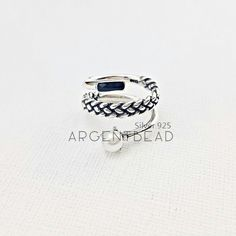 Silver 925 cuban curve ring 3 layers