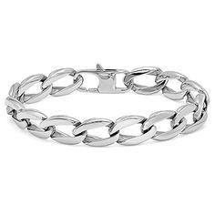 Mens Oxford Ivy Stainless Steel Chain Link Bracelet www.amazon.com