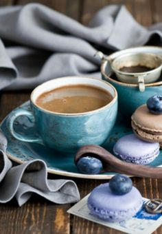 Coffee and macarons