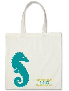 10 Seahorse Wedding Welcome Bags. $40.00, via Etsy.