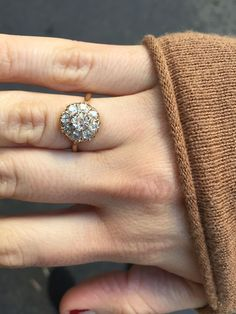 The Giselle Vintage Cluster Engagement ring is GORGEOUS!