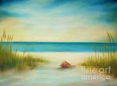 Single Seashell by Gabriela Valencia - Single Seashell Painting - Single Seashell Fine Art Prints and Posters for Sale