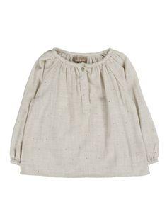 Emile et Ida - Vichy Blouse - Designer Girls Clothing - Elias & Grace