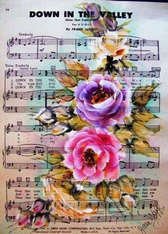PictureTrail provides online photo sharing, personal homepages and image hosting. Decoupage Vintage, Vintage Diy, Decoupage Paper, Vintage Cards, Vintage Paper, Sheet Music Art, Music Paper, Paper Art, Paper Crafts