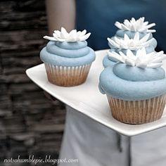 flower cupcake decorations--wedding