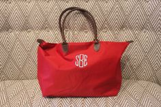 Monogrammed Tote Bag by SocialManor on Etsy, $36.00