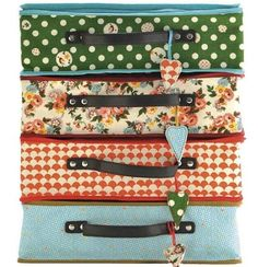 Lale suitcases, very sturdy & well made. The fabrics are super. For children & adults too we think!