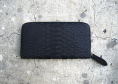 Black Snakeskin Wallet