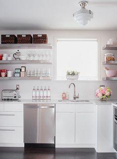 kitchen, white, modern