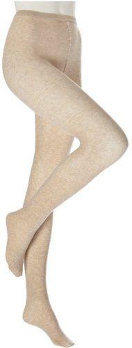 0470e7433b8 Ladies Oatmeal Beige 40 Denier Soft Cotton Micro-Fibre Tights 8-10 Uk
