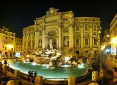 Make a wish and throw a coin into the most famous fountain in the world! At night the fountain is truely magestic and there are less tourists, making for a much more romantic experience!
