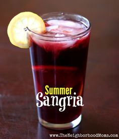 Summer Sangria - This screams summer days outside on the deck with a book!