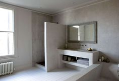 Trends Hunter   Concrete bathroom
