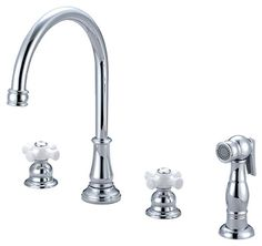 Pioneer 2BR221 Two Handle Kitchen Widespread Faucet, PVD Polished Chrome Finish * For more information, visit image link.