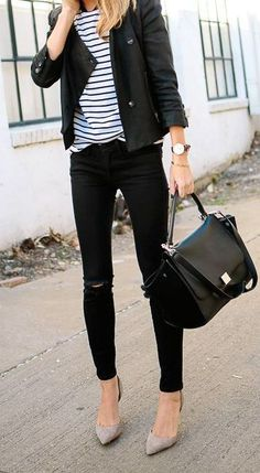 stripes + black + grey