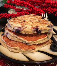 Finally a good Protein Pancake recipe.. these are amazing Blueberry Coconut Protein Pancakes!!
