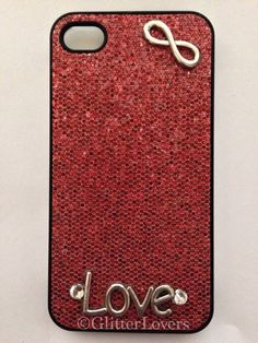 Bling sparkle infinity love iPhone 4/4s case  on Etsy, $15.00