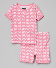 Look at this #zulilyfind! Mud Pie Pink Crab Pajama Set - Infant & Toddler by Mud Pie #zulilyfinds