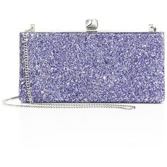 Jimmy Choo Celeste Coarse Glitter Clutch ($995) ❤ liked on Polyvore featuring bags, handbags, clutches, apparel & accessories, cobalt, glitter clutches, glitter purse, jimmy choo purses, crystal clutches and crystal handbags