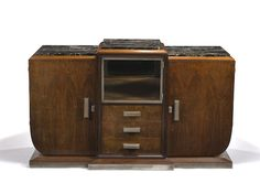 A French Art Deco rosewood and marble cabinet circa 1930