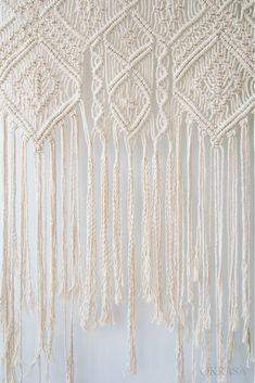 Mother's Day Gift Idea - Boho Macrame wall hanging, Bohemian wall art, Macrame wall decor, Macrame Curtain, Wall Tapestry #mothersday  #macramewallhanging #OKRASAmacrameART